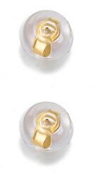 Uzávěr na náušnice 2 kusy - 1 pár Silicone Gold
