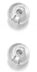 Uzávěr na náušnice 2 kusy - 1 pár Silicone Silver