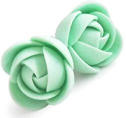 Zelenkavej náušnice puzetky menšie kvietky