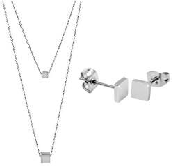 Zvýhodněná ocelová sada Troli (náhrdelník, náušnice)