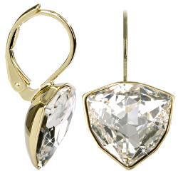 Zlaté náušnice Trilliant Crystal