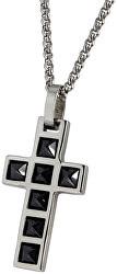 Ocelový přívěsek Křížek PSS999