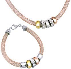 Set von Halskette und Armband SET117 RG