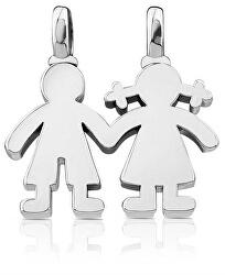 Pandantiv de argint Băiat și fetiță 115904500