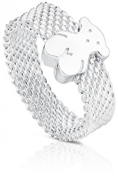Stříbrný prsten s medvídkem 010390200