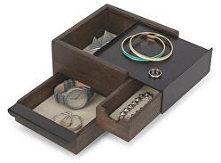 Šperkovnica STOWIT mini čierna / hnedá 1005314048