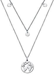 Dvojitý náhrdelník s mapou sveta Kiss 15017C01000