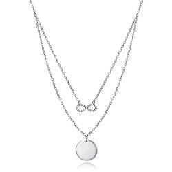Dvojitý ocelový náhrdelník Nekonečno 4087C000-00