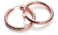 Elegáns bronz karika fülbevaló  Fashion 6361E19017