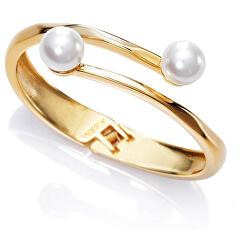Elegantní pozlacený náramek s perlami Chic 3216P09012