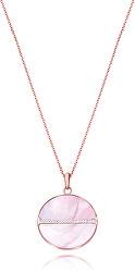 Nádherný bronzový náhrdelník s kryštálmi Chic 75075C01012