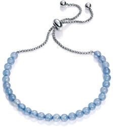 Náramok s modrými achátovými korálkami 75120P01013
