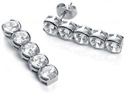 Ocelové náušnice s broušenými krystaly Fashion 50001E11000