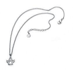 Ocelový náhrdelník s půvabným andělíčkem Fashion 90029C01010
