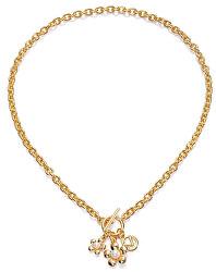 Pozlacený dámský náhrdelník Fashion 3218C09012