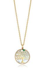 Pozlacený náhrdelník se stromem života Popular 15064C01012