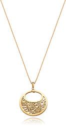 Pozlacený náhrdelník s výrazným přívěskem Chic 75115C01012