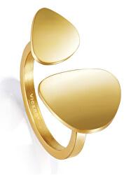 Stylový pozlacený prsten Air 15008A01212
