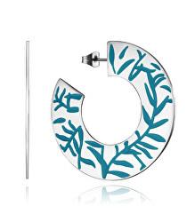 Jellegzetes acél karika fülbevalók  Chic 75272E01000