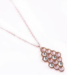 Dizajnový bronzový náhrdelník Bee Rose gold