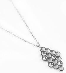 Dizajnový oceľový náhrdelník Bee Silver