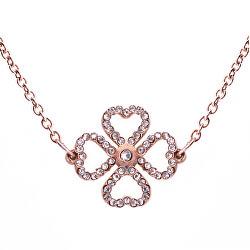Moderné náhrdelník s kryštálmi Liny Rose zlaté