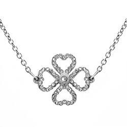 Moderné náhrdelník s kryštálmi Liny Silver