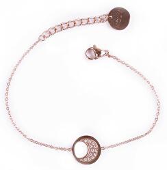 Módní bronzový náramek Little Rosegold Moon