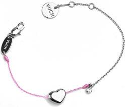 Módní náramek Shiny Heart Pink