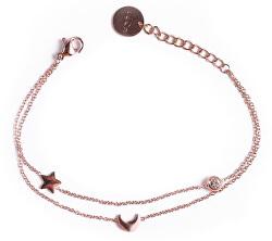 Módní ocelový náramek Infinity Rose gold
