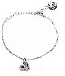 Romantický náramek s čirým krystalem Little Amour Silver