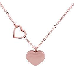 Romantický pozlátený náhrdelník Inlove Rose zlaté