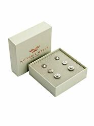 Elegantní set ocelových náušnic VS1099S