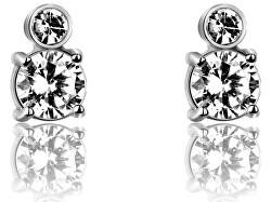 Ocelové náušnice pecky s krystaly VE1094S