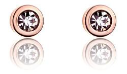 Pozlacené náušnice pecky s krystaly VE1091R