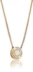 Pozlátený oceľový náhrdelník VN1053G