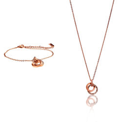 Půvabná bronzová sada náramku a náhrdelníku VS1070R