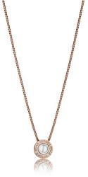 Půvabný bronzový náhrdelník s perlou VN1091R