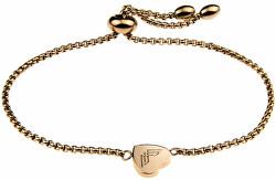 Romantisches vergoldetes Armband mit Herzen VB1071G