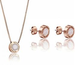 Souprava náušnic a náhrdelníku s perletí VS1059R - SLEVA
