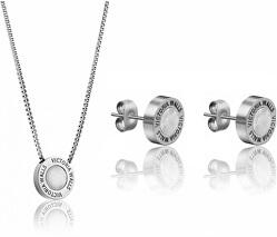Souprava náušnic a náhrdelníku s perletí VS1059S