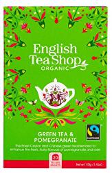 Zelený čaj s granátovým jablkem BIO 20 sáčků