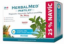 HerbalMed pastilky Dr. Weiss pri nádche 24 pastiliek + 6 pastiliek ZADARMO