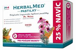 HerbalMed pastilky Dr. Weiss pre posilnenie imunity 24 pastiliek + 6 pastiliek ZADARMO