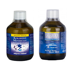 Koloidné minerály 300 ml + Koloidné striebro Ag100 (10ppm) 300 ml