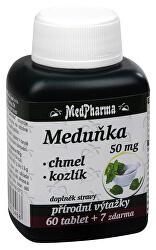 Meduňka 50 mg + chmel + kozlík 60 tbl. + 7 tbl. ZDARMA