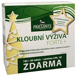Priessnitz kĺbová výživa Forte + kolagény 180 tbl. + 90 tbl. ZADARMO