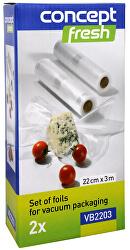 Sada fólií pro vakuové balení 22 cm x 3 m VB-2203