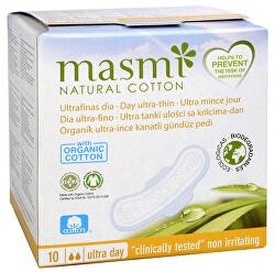 Ultratenké vložky MASMI z organické bavlny s křidélky 10 ks