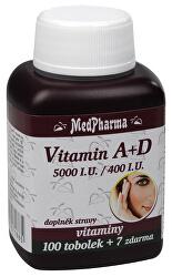 Vitamín A + D (5000 I.U./400 I.U.) 100 + 7 tabletZDARMA